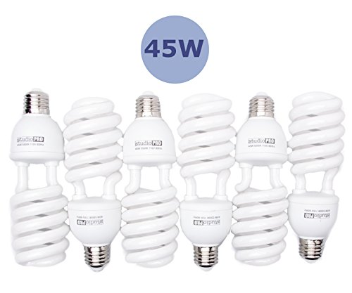 Continuous LightingFits Five CFL BulbsStandard 3 Prong